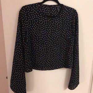Black and White Polk a dot blouse